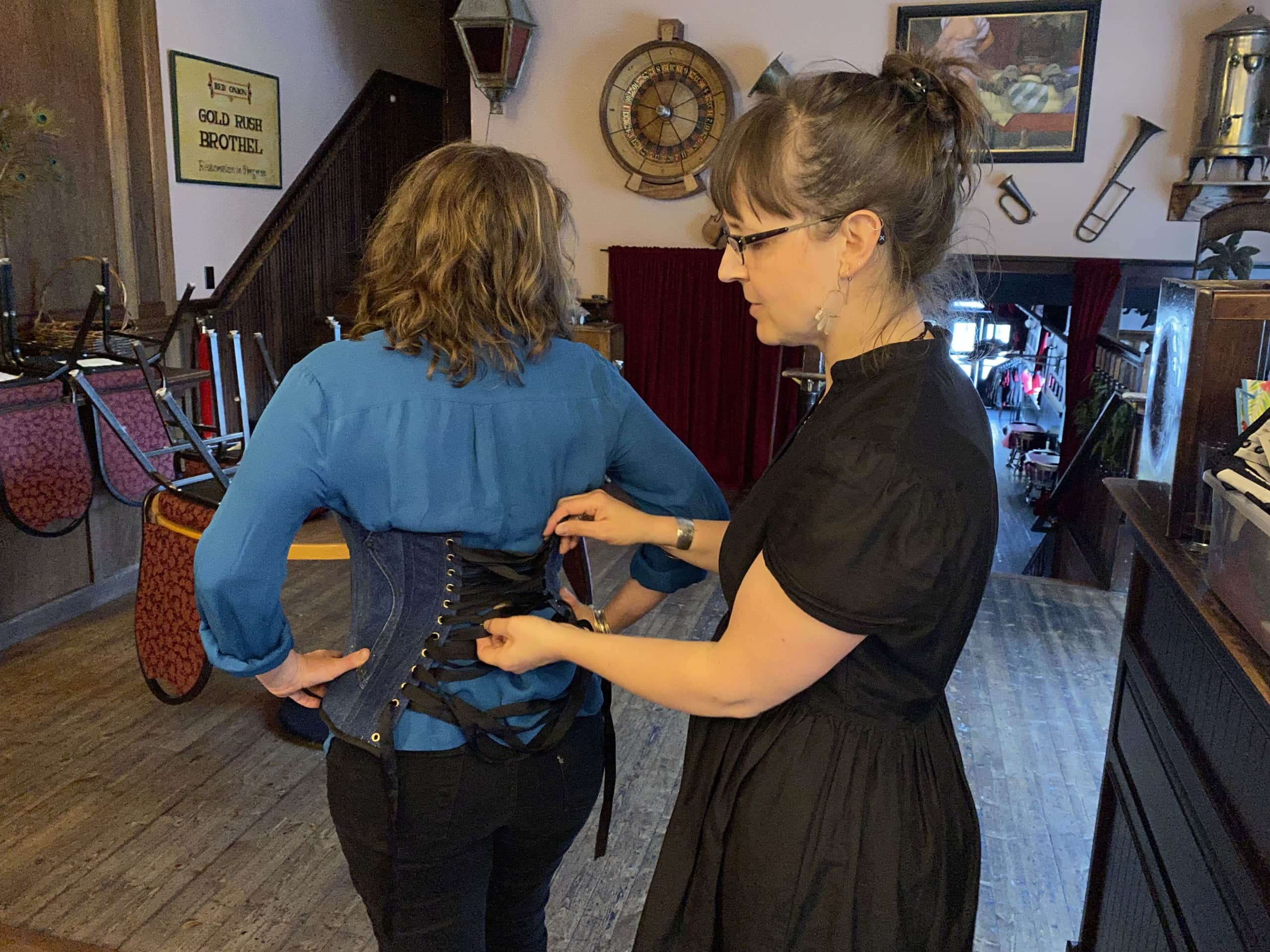The corset maker: a crash course in Skagway's corsets